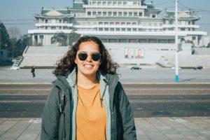Rita op het Het Kim Il Sung plein